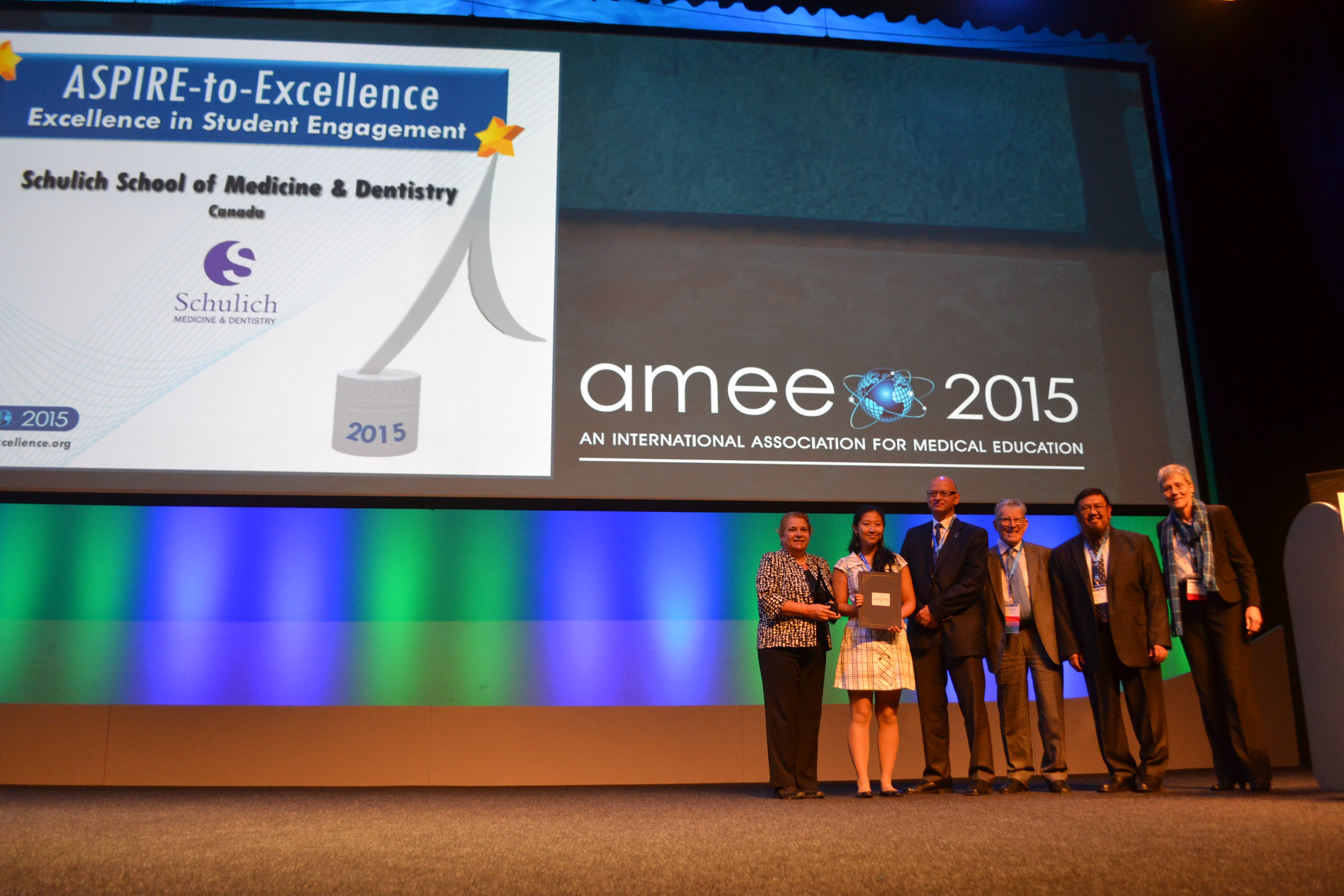 AMEE 2015 - ASPIRE-to-Excellence Student Awards - 031_Schulich.JPG